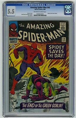 The Amazing Spider-Man #40 CGC 5.5 Marvel Comic Green Goblin Origin