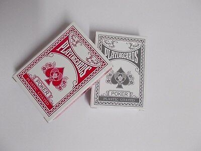 Professional Plastic Coated Playing Card Decks Poker Size - Pink or Grey