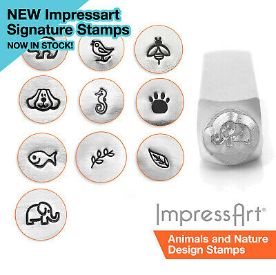 ImpressArt Animal and Nature Design Metal Stamping, Metal Stamps, 3, 6 or 9.5mm