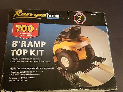 "NEW SEALED IN BOX Ramps by Reese 8"" Ramp Top Kit 700lb Capacity Per Ramp #07009"