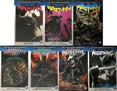 BATMAN + DETECTIVE COMICS TPB trade 1-3 + Nightwing 1 DC Rebirth collection set
