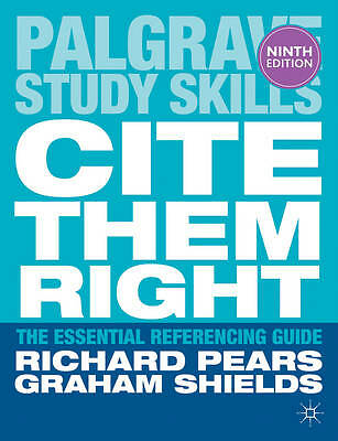 Cite Them Right: The Essential Referencing Guide (Palgrave Study-ExLibrary