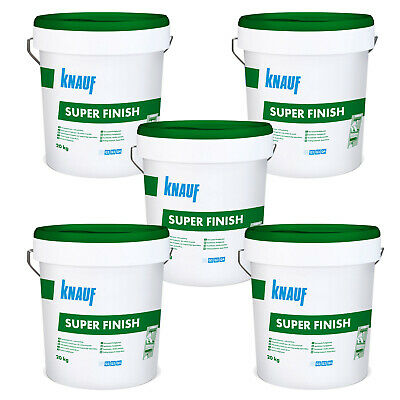 5 Eimer KNAUF Sheetrock Super Finish 20kg Fertigspachtel Fugenspachtel Bau