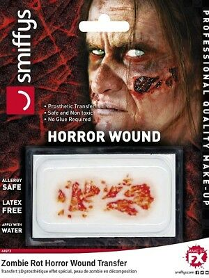 Halloween Zombie Dead Flesh Horror Ferite Transfer Qualità Professionale Make Up