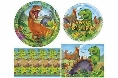 Dinosaur Birthday Party Tableware Balloons Decorations Cute Prehistoric Design