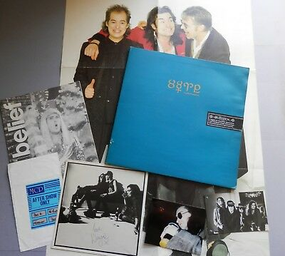 "The Mission - Into The Blue 12"" + Poster, Signed 'Belief' and 2 x Photos +"