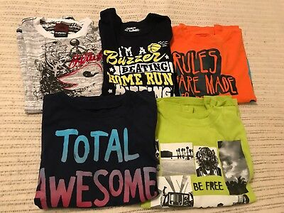 Awesome and Cool Lot of 5 Boys Tony Hawk Aeropostle & more SS Shirts sz 6/7
