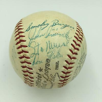 2026be13b 1959 All Star Game Team Signed Baseball Stan Musial & Ernie Banks With JSA  COA