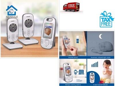 VTech Safe Sound VM312-2 Video Audio Quality Baby Monitor Rechargable Batteries