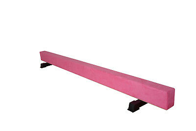 8FT High Wood Core Gymnastics Balance Beam Gym Training Metal Feet Equipment Bar