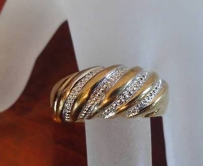 Gorgeous Vintage Signed Uncas 14Kt G.e. Gold Electroplate Ring Size 9.5