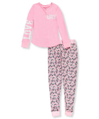Delia's Big Girls' 2-Piece Waffle Pajamas (Sizes 7 - 16)