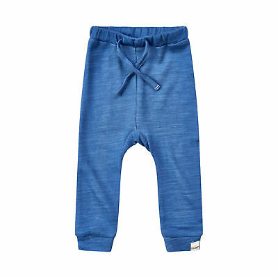 Merino Wool-Bamboo Bottoms/Pants - Unisex - Blue 12-18 Months