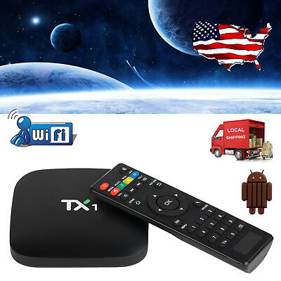 TX1 Android 4.4 Quad Core Smart TV BOX 4K Movies Media Player FULL 1080P Network