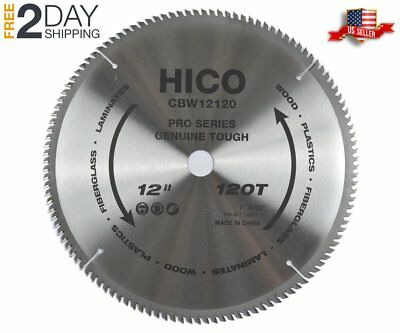 Miter Saw Blades 12 Inch 120 Tooth ATB Thin Kerf General Purpose Woodworking NEW