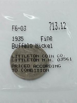 1935 Buffalo Nickel -Fine-Littleton Package