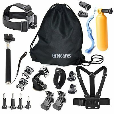 Greleaves Sport Camera Accessories Kit for Gopro Hero 5 4 3+ 3 2 1 SJCAM SJ4000