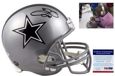 Emmitt Smith Autographed SIGNED Dallas Cowboys Full Size Rep Helmet - PSA/DNA