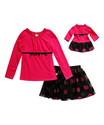 """Dollie Me Sz 8-14 and 18"""" doll matching dress outfit clothes fit american girl"""