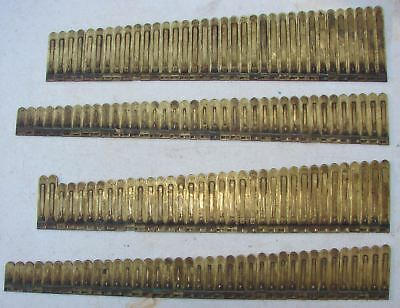 146 Brass Reeds from Clough and Warren Pump Organ Antique Parts Crafts Repurpose
