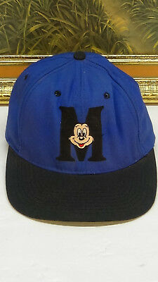 Vintage Mickey Mouse Blue Baseball Hat Cap Youth Disney Adjustable Snapback