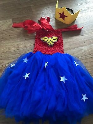 birthday tutu dress outfit superhero wonder women  girls cake smash party