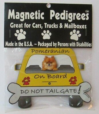 Pomeranian On Board Car Magnet, Dog, Souvenir, Refrigerator
