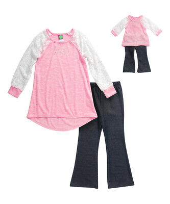 "Dollie Me Sz 7-14 and 18"" doll matching dress outfit clothes fit american girl"