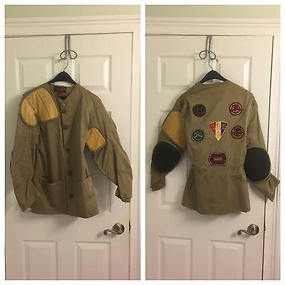 Vintage BSA Boy Scouts of America RIFLE Jacket Patches Marksman Sharpshooter