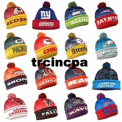 NFL Big Logo Camoflauge Light Up Knit Beanie - Pick Your Team - FREE SHIPPING!