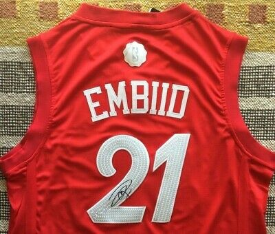 c1aac2a7ffe ... inexpensive joel embiid 76ers nameplate for autographed signed  basketball jersey photo floor b7944 50007