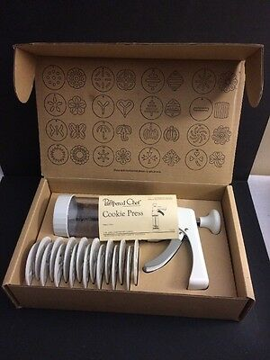 Pampered Chef Cookie Press Original Box 1525 Cookie Forms Instructions Recipe