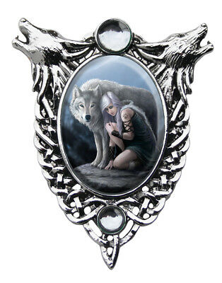 Protector Cameo Pendant by Anne Stokes