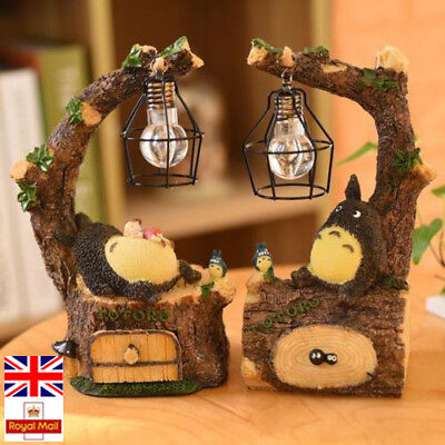 INS Cute Totoro Night Light LED Table Lamps Resin Craft Bedroom Decoration Toys