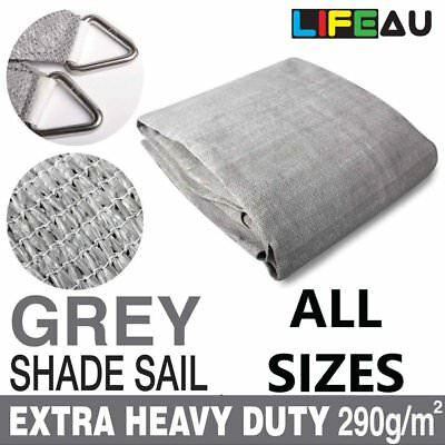 Extra Heavy Duty GREY Shade Sail 290gsm Rectangle Square Triangle