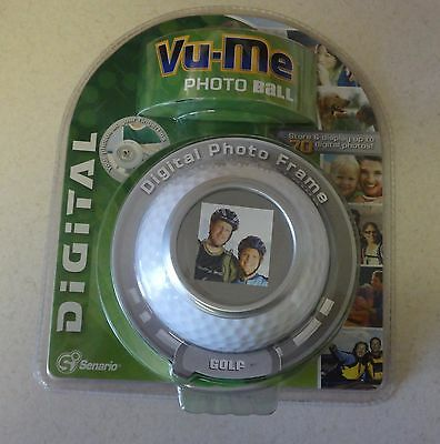 Vu-Me Photo Ball Golf 70 Picture Digital Photo Frame Senario