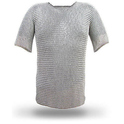 Aluminium-Chain Mail-Shirt Butted-Haubergeon-Viking-Medieval-Armor