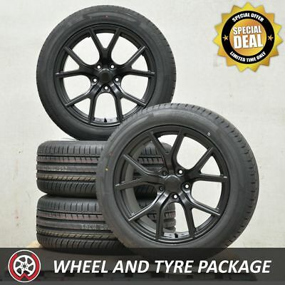 20 Inch Aftermarket HAWK Jeep Grand Cherokee SRT Wheels and NEW Tyres 295/45R20