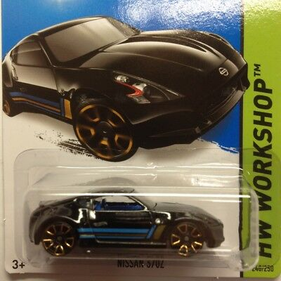 NEW Hot Wheels Nissan 370Z 2015 No 248 Black Genuine Sealed Long Card