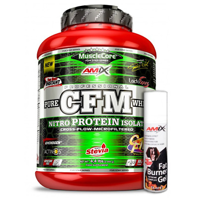 Amix Nutrition - Musclecore CFM Nitro Protein Isolate 2000 gr. + Fat Burner Gel