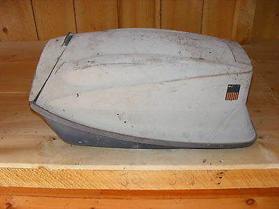 AI1C3519 1960's Vintage Evinrude Outboard Big Twin 33 Cowl Hood Motor Cover