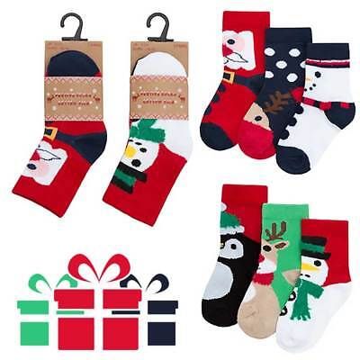 Christmas Baby Booties Infant Festive Newborn Socks 0-6 Months 6-12, 6-18 Months