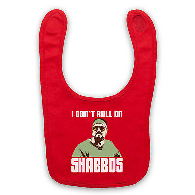 I Don't Roll On Shabbos Unofficial The Big Lebowski Baby Bib Cute Baby Gift