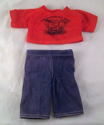 Vintage Peanuts Gang Snoopy Doll Clothes Outfit