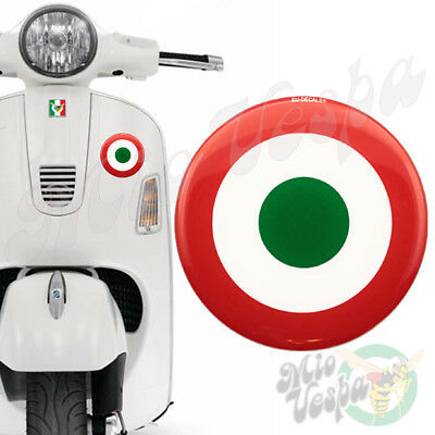 Italian Air Force Target 3D Decal domed sticker for Vespa GTS GTV GTL GT ET mod