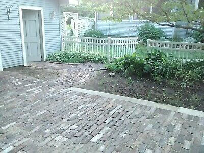 1000 Vintage / Antique Indiana paving Street Brick Block Reclaimed salvage lot
