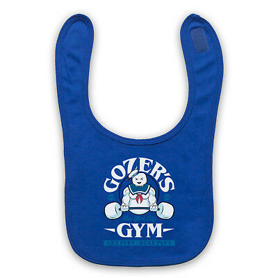 Ghost Parody Marshmallow Man Unofficial Gym Busters Baby Bib Cute Baby Gift