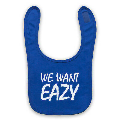 Eazy-E We Want Eazy Text Unofficial Nwa N.w.a Rap Hip Baby Bib Cute Baby Gift