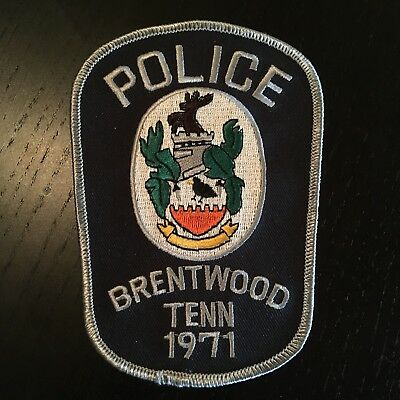 Brentwood Police Patch Tennessee