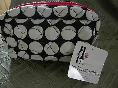 """NWT Buckhead Betties Quilted Cosmectic Bag """"Adore-a-Ball"""" Pattern"""